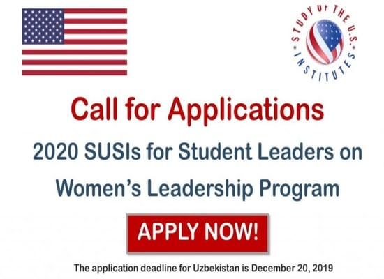 2020 Study of the United States Institutes for Student Leaders on Women's Leadership