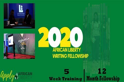 African Liberty Writing Fellowship Program 2020