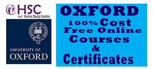 Oxford fully free online courses with certificates