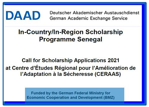 DAAD/CERAAS PhD and Masters Scholarships 2020