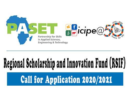 PASET Regional Scholarship and Innovation Fund (RSIF) PhD Scholarship 2020/2021
