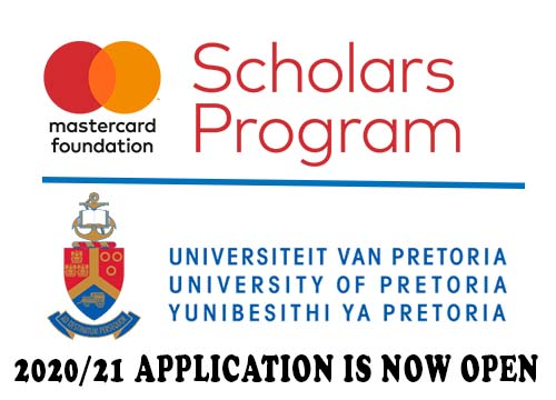 University of Pretoria MasterCard Foundation Scholars Programme 2020/21