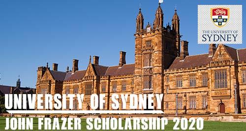 John Frazer Scholarship for International Students at University of Sydney