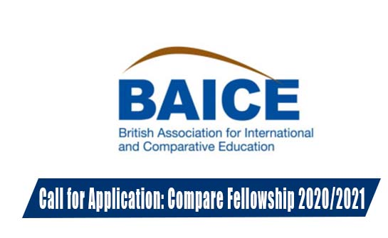 British Association of International and Comparative Education (BAICE) Compare Fellowship 2020/2021