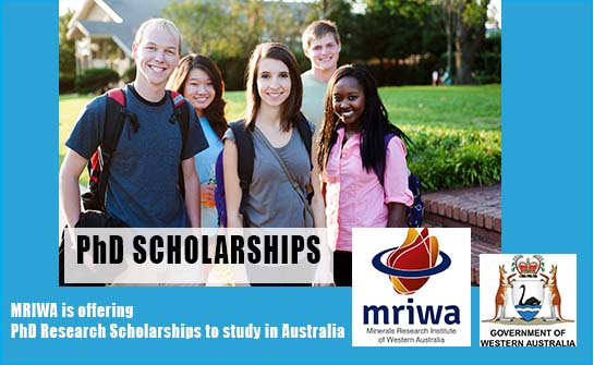 MRIWA PhD Scholarship 2020/2021 for International Students