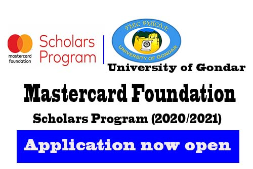 University of Gondar Mastercard Foundation Graduate Scholars Program 2020/2021