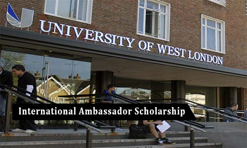 University of West London (UWL) International Ambassador Scholarship 2020.