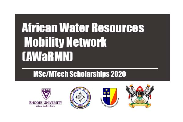African Water Resources Mobility Network (AWaRMN) MSc/MTech Scholarships