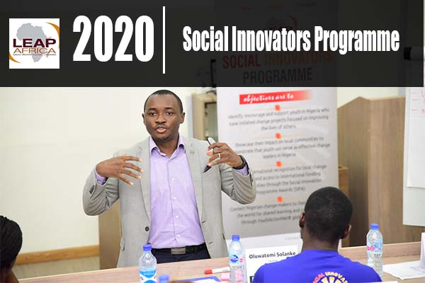 Leap Africa Social Innovators Programme (SIP) 2020