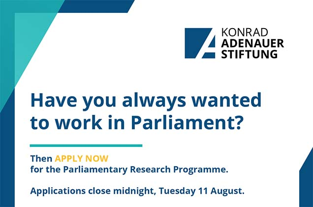 Konrad Adenauer Stiftung (KAS) Parliamentary Research Programme 2020