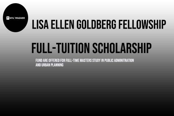 Funded Lisa Ellen Goldberg Fellowship 2021 At New York University (NYU)
