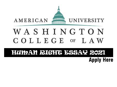 American University Washington Human Rights Essay Award 2021
