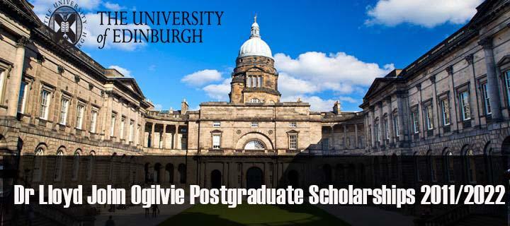 Dr Lloyd John Ogilvie Scholarships 2021/2022 At University Of Edinburgh
